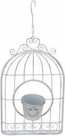 Home Styling Collection Dekoracyjna Doniczka - ozdobna klatka - biały HZ1002370-