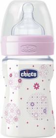Chicco Butelka plastikowa Well-Being 150ml od urodzenia różowa 00020611100050