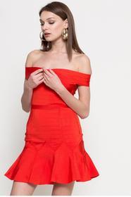 Missguided Sukienka WXDE911452 czerwony