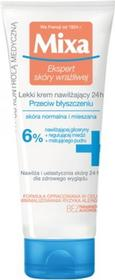 MIXA Ekspert skóry wrażliwej Lekki Krem nawilżający 24h Przeciw błyszczeniu 6% 50ml