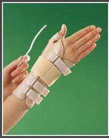 Długa bioceramiczna orteza nadgarstka z taśmą mocującą i stabilizacją kciuka 318