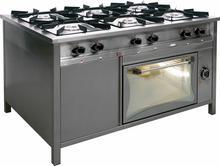 Egaz Trzon gastronomiczny gazowy 6-palnikowy z piekarnikiem gazowym, 1330x900x85