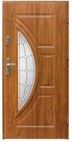 Splendoor Drzwi zewnętrzne przeszklone  Szmaragd prawe dąb złoty 90