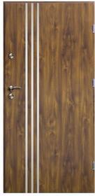 O.K.Doors Drzwi zewnętrzne  Arte III Line 80 prawe złoty dąb