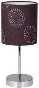 Candellux Lampka nocna EMILY 41-26736 abażurowa Lampa stołowa wzorki brązo