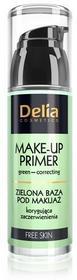 DELIA Make-up Primer - Zielona baza pod makijaż korygująca 35ml