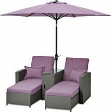 Zestaw wypoczynkowy MINOIS z parasolem; 267501
