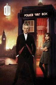 Doctor Who Budka Telefoniczna i Płonący Londyn Plakat
