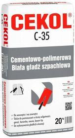 Cekol Masa szpachlowa C-35 25 kg Biała