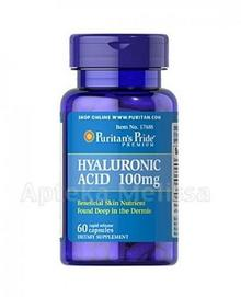 Puritans Pride PURITANS PRIDE KWAS HIALURONOWY 100 mg 60 kaps