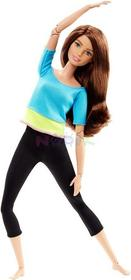 Mattel Barbie Lalka Made to move (niebieski top) DHL81 DJY08