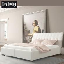 New Design Łóżko MADISON PRESTIGE tapicerowane Rozmiar 200x200 Pojemnik Bez pojemnika Tkanina Grupa III