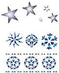 Dystrybucja Kraina Papieru Szablon wielokrotnego użytku A6 śnieżynki x