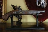WŁOCHY ORYGINALNY FRANCUSKI Pistolet KAPISZONOWY XVIII