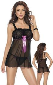 Roxana Babydoll and string S-Mczarny 3264700106