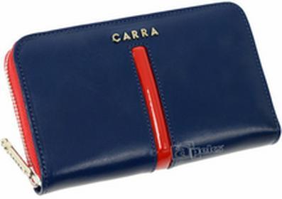 Carra PC061-1 BLUE damski portfel skóra - granatowy / czerwony