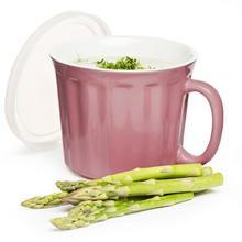 Sagaform Kubek na zupę Soup z pokrywką, różowy