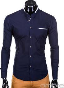 Ombre Clothing Koszula K303 - CIEMNOGRANATOWA