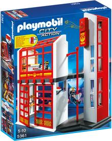 Playmobil 5361 City Action - Remiza strażacka z alarmem