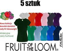 Koszulka Lady-Fit Valueweight 61-372-0 165g 5 SZTUK KOLOR