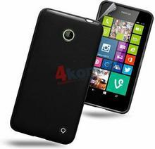 Etui plecki silikonowe do Nokia Lumia 630 i 635 Czarny 582