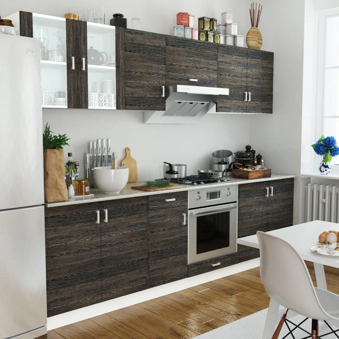 vidaXL Zestaw szafek kuchennych 8 sztuk w kolorze wenge