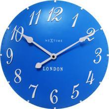 Nextime Zegar ścienny London Arabic, niebieski, 3084 BL -
