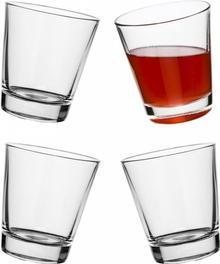 Sagaform Bujające szklanki uniwersalne Bar, 4-pak