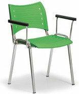 B2B Partner Plastikowe krzesła Smart - chromowane nogi z podłokietnikami 150173