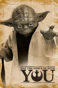 Star Wars Yoda - May The Force Be With You Plakat