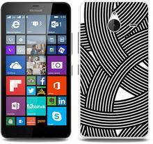 Etuo.pl Fantastic Case - Microsoft Lumia 640 XL - etui na telefon Fantastic Case - biało-czarna mozaika ETMS183FNTCFC027000