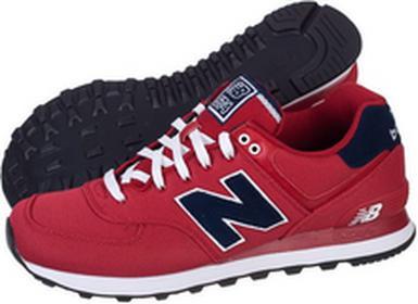 New Balance ML574POR czerwony