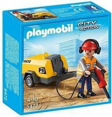 Playmobil Pracownik z młotem pneumatycznym 5472