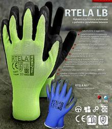 Reis RTELA - rękawice ochronne 4 kolory - 7,8,9,10,11.