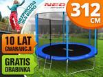 Neo-sport Trampolina ogrodowa 10ft/312cm z siatką zewnętrzną i drabinką NS-10Z161