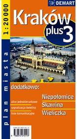 Kraków. Plus 3. Plan miasta 1:20 000