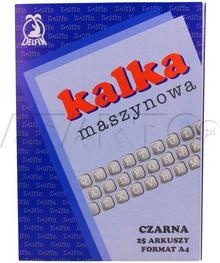 Delfin KAKADO/ Kalka maszynowa A4 czarna (25) KD5001