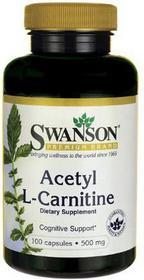 SWANSON Acetyl L-Karnityny 500mg 100 szt.