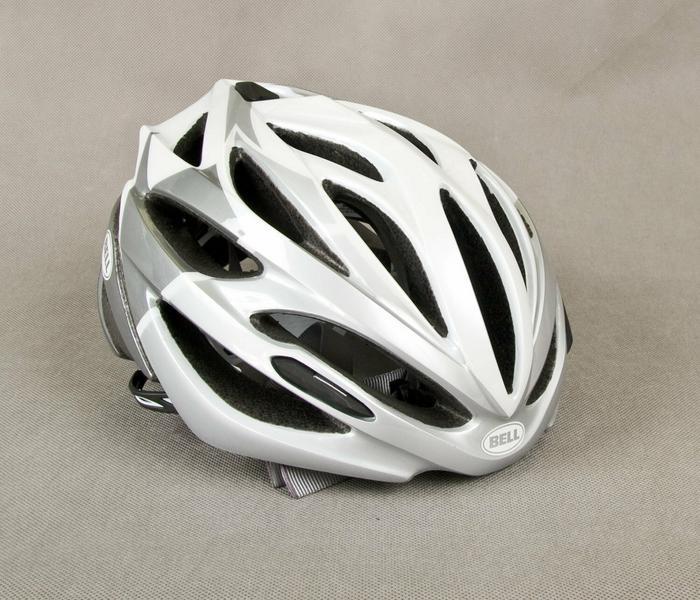 Bell ARRAY - kask rowerowy - szosowy, kolor: Biało-srebrny