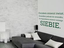 Naklej-to.pl Chciałem zmienić świat naklejka na ścianę