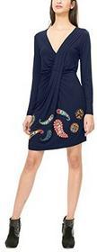 Desigual Sukienka VEST_PAULA dla kobiet, kolor: niebieski, rozmiar: 38 (rozmiar producenta: L)