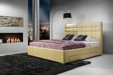 Elegance Elegance Suita A - tapicerowane łóżko (skóra naturalna-Dolaro) z pojemnikiem 180x200 cm