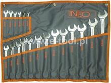 NEO-TOOLS Klucze płasko - oczkowy DIN komplet 19sztuk 6-24mm 09-034