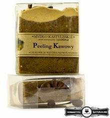 Mydło w kostce kastylijskie peeling kawowy - Czyste mydło