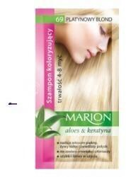 Marion Aloes & Keratyna 4-8 myć szampon koloryzujący w saszetce 69 Platynowy Blond 40ml