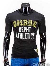 Ombre Clothing T-SHIRT S609 - CZARNY