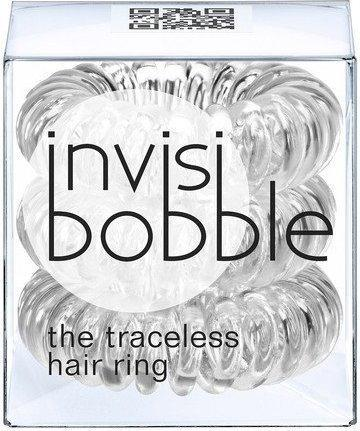 InvisiBobble Traceless Hair Ring Crystal Clear gumki do włosów przezroczyte 3szt.