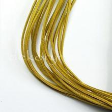 Rzemień skórzany - rzemyk prawdziwa skóra 90cm rzem4 żółty