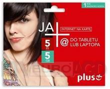 Plus JA+ 5zł / 5GB / internet na kartę