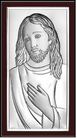Beltrami Obrazek Jezus Chrystus w ciemnej oprawie - (BC#6431WM)